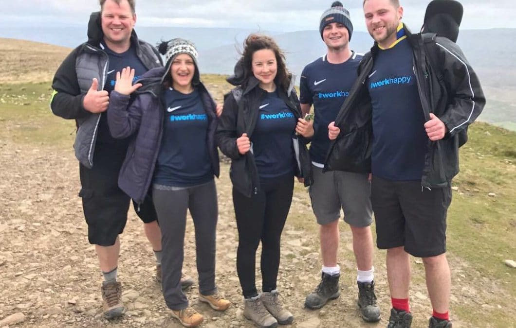 Recruitment staff raise £1,000 for hospice through three peaks challenge