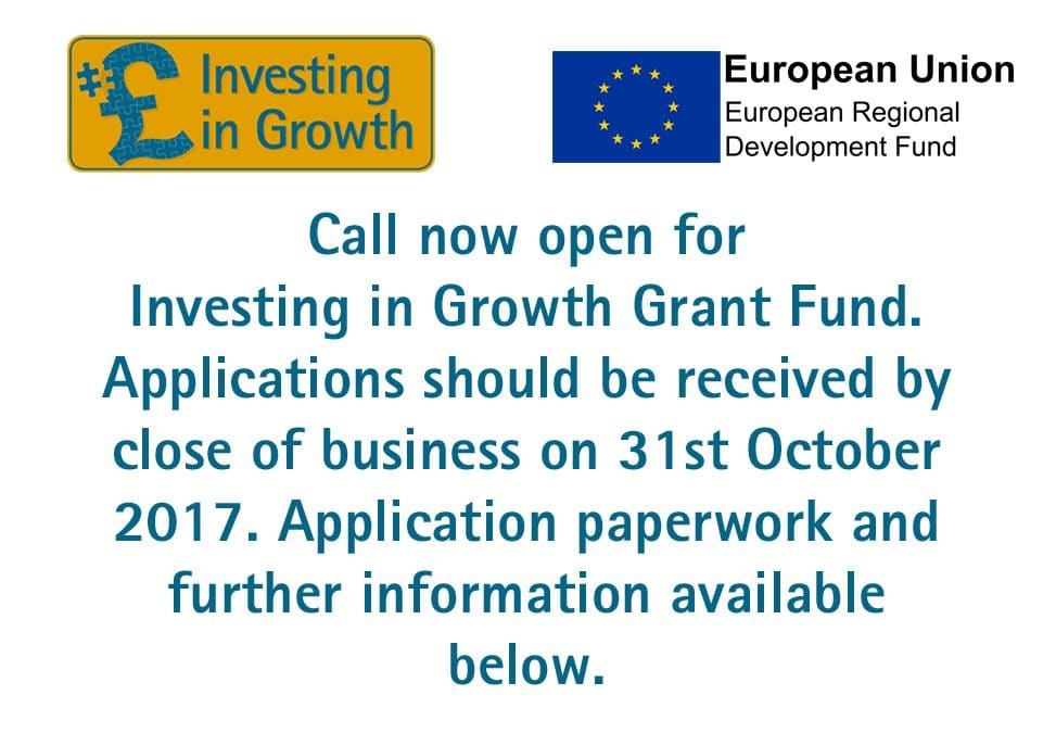 CALL NOW OPEN – Investing in Growth Business Grant Fund