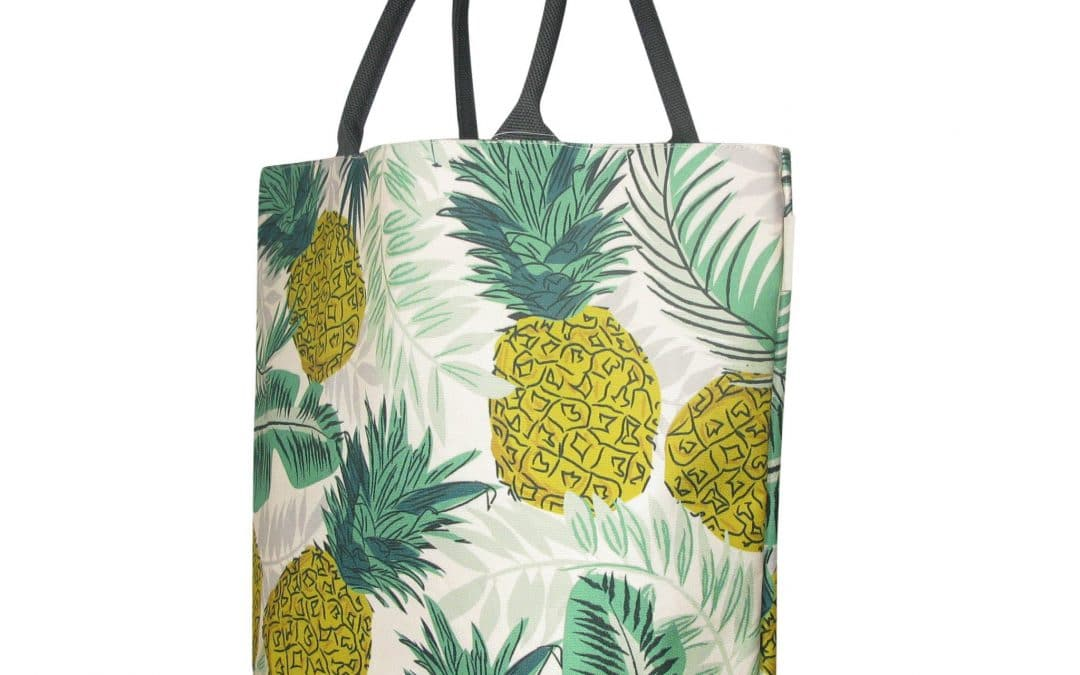 CAROLINE GARDNER DESIGNS JOHN LEWIS SHOPPING BAG MADE ENTIRELY FROM RECYCLED PLASTIC BOTTLES