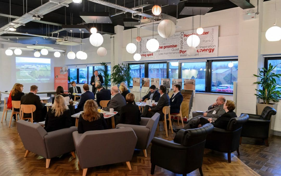 BUSINESSES DISCUSS DEVELOPMENT OPPORTUNITIES AT EVESHAM NETWORKING BREAKFAST