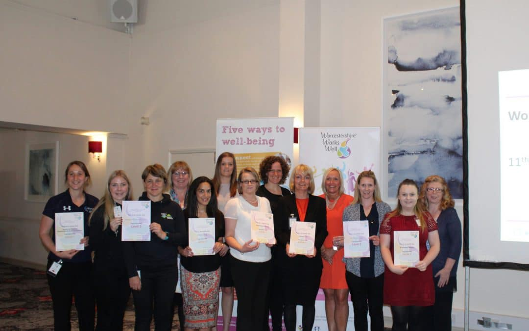RECORD NUMBER RECEIVE ACCREDITATION AT WORCESTERSHIRE WORKS WELL EVENT