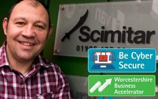Scimitar Sports received invaluable support from Worcestershire Business Accelerator and Be Cyber Secure