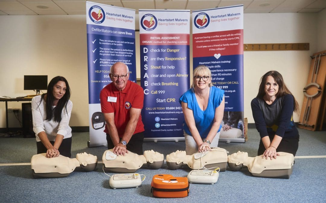 New starters learn to be heart starters with Malvern firm's defibrillator training