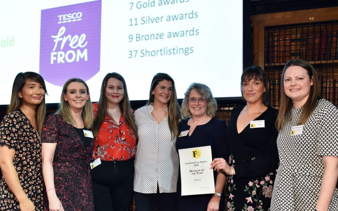 Tesco took the Retailer of the Year 2019 title whilst Booja-Booja was the winner of the FAIR trophy for the Best FreeFrom Food 2019.