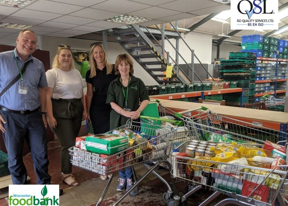 Trolley Dash Boosts Supplies at Worcester Foodbank