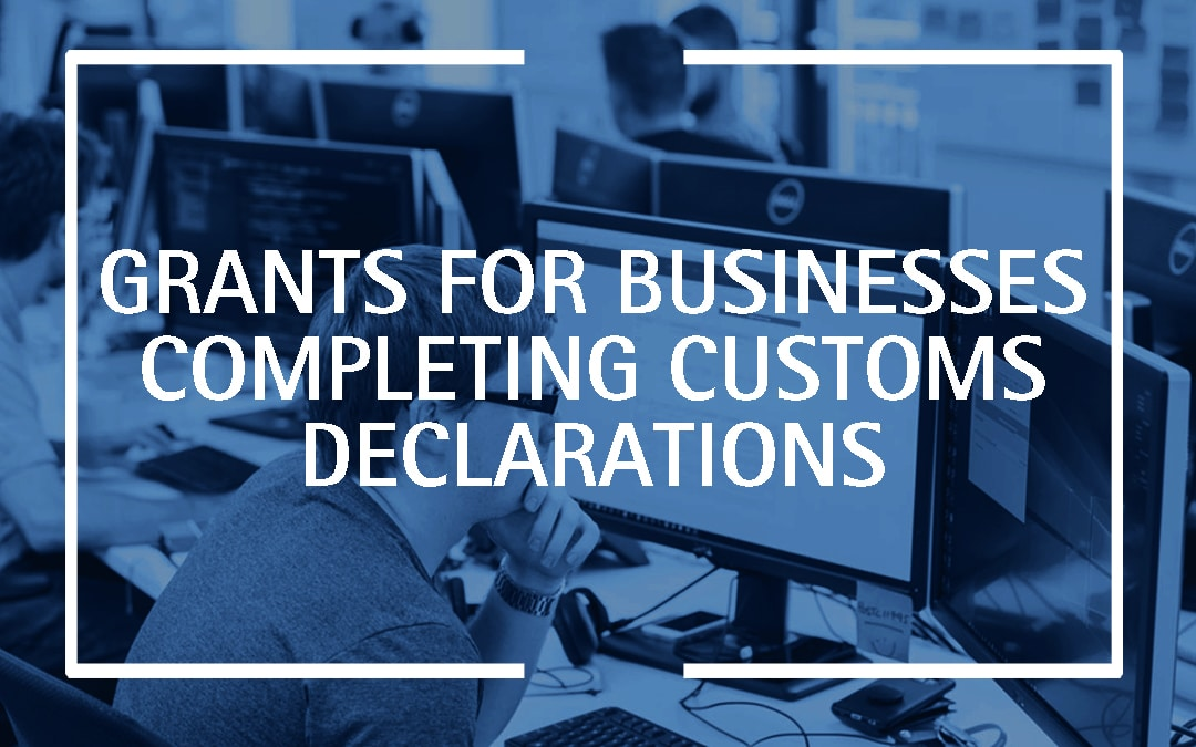 Apply for grants if your business completes customs declarations