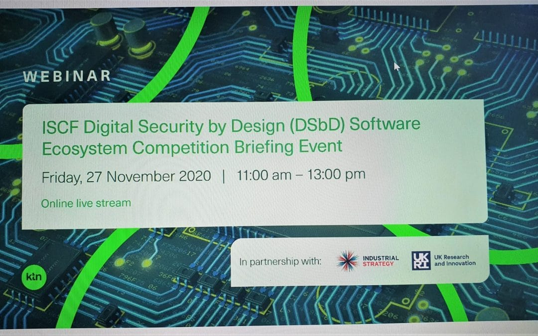 New competition for Digital Security by Design Technologies